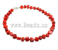Free shipping!!! Fashion New Year Gift Natural Coral red 8-10mm Length:18 Inch Sold Per 18 Inch Coral Necklace