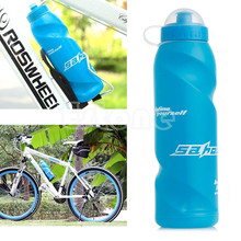 Handy Outdoor Sports Bike Bicycle Squeeze Drink Water Bottle Kettle Blue 700ML