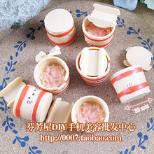 solid resins Japanese ginger bowl Candy toys 20mm 20pcs mixed kawaii cabochons for DIY