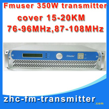 FSN-350A 350W Professional FM Exciter and Broadcast Radio Transmitter 87.5-108 MHz cover 15KM-20KM  Free Shipping