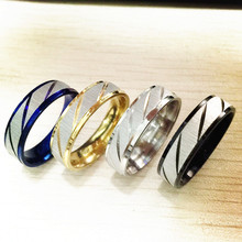 ANN JEWELS Lead & Nickel Free 4 Color Wedding Bands Male Ring Stainless Steel Men's Jewelry for Party Wholesale(China)