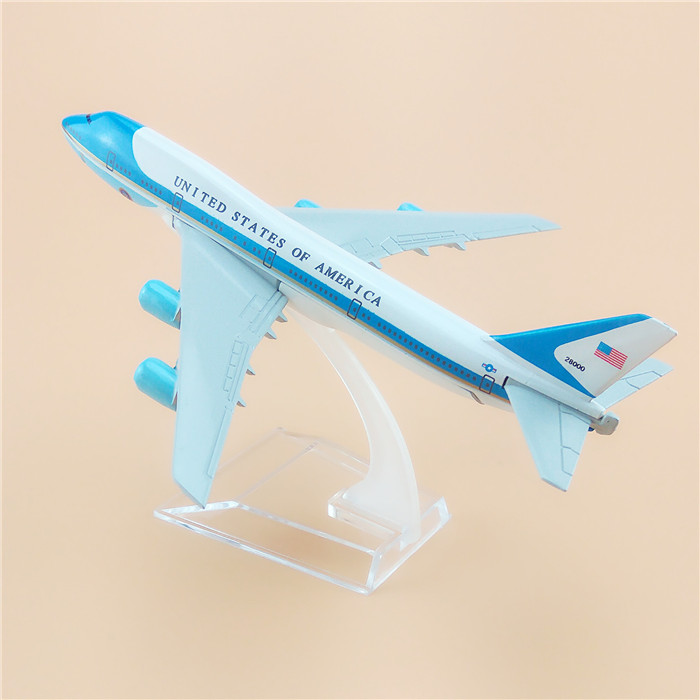 Brand New United States Air force one B747-200 Airlines plane model 16cm Men's Toy Birthday gift Metal Free Shipping(China)