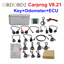 Update Online Carprog V8.21 Auto Repair Tool Full Adapter Car Prog 8.21 For Immo Dashboard Airbag Odometers ECU Chip Tuning Tool