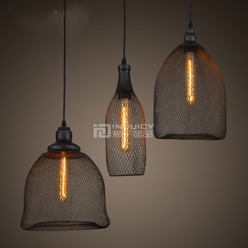 Loft Vintage Edison Retro Iron Metal Reticular Pendant Lights Lamps Fixtures Shades E27 Socket Led Bar Aisle Cafe Dining Room<br>
