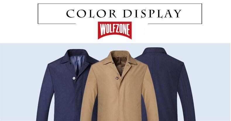 2018 New Spring Mens Casual Trench Coat Khaki blue Longline Thin Windbreaker Coats  (6)