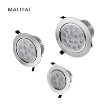 1Pcs 3W 5W 7W 9W 12W 15W 18W 85V-265V LED Downlight Recessed Ceiling lamp Panel light Spot Bulb + Driver For Indoor lighting