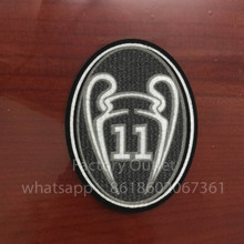 10 pcs a lot top quality Champions League 11 Times Trophy Soccer Soccer patch UCL badge Cashmere material velvet(China)