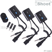 Wireless Radio Flash Trigger Controller PT-04IS for 3.5mm/6.35mm SYNC JACK Photo Studio Strobe Monolight -3RX(China)