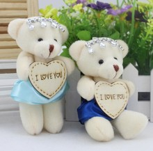24pcs/lot free shipping Hot Sale cartoon Plush Doll crystal bear toys Cartoon bouquet flower wrapping material wholesale(China)