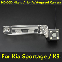 For Kia Sportage SL Sportage R K3 2012 Car CCD 4 LED Night Vision Backup Rear View Camera Parking Assistance Waterproof(China)