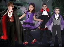 High quality Children Fantasia cosplay little Witch costume Halloween Christmas party clothing carnival dress Vampire Clothes(China)