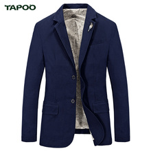 2017 New TAPOO brand casual denim blazer men Spring Autumn cotton slim fit blazer masculino suit denim jacket men S-4XL