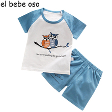 Children Clothing Fashion Summer Baby Boys Girls Kids Sets 2pieces T shirt+Pants Clothes Suits Casual Cotton Suits Hot XL147(China)