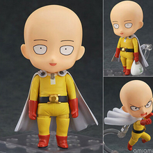 "Japanese Anime Action Figure ONE PUNCH MAN Re Make Saitama Sensei Nendoroid Doll PVC Model Doll Toy 4"" 10cm Action & Toy Figures"