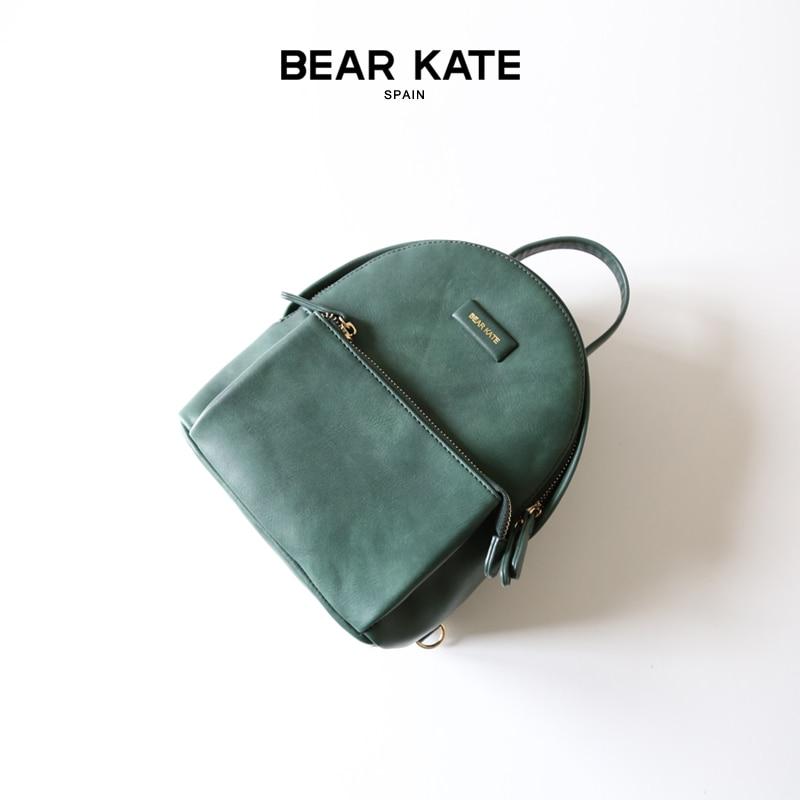 BEAR KATE Backpack Women Zipper Mini Pocket 2017 Solid Color Backpacks for Teenage Girls Casual Ladies Small Mochilas Femininas<br><br>Aliexpress