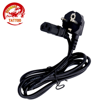 1PCS Europe Suffix Tattoo Power Cord With 2Pin Plug Rubber Silicone Tattoo Power Cable For Tattoo Supply(China)