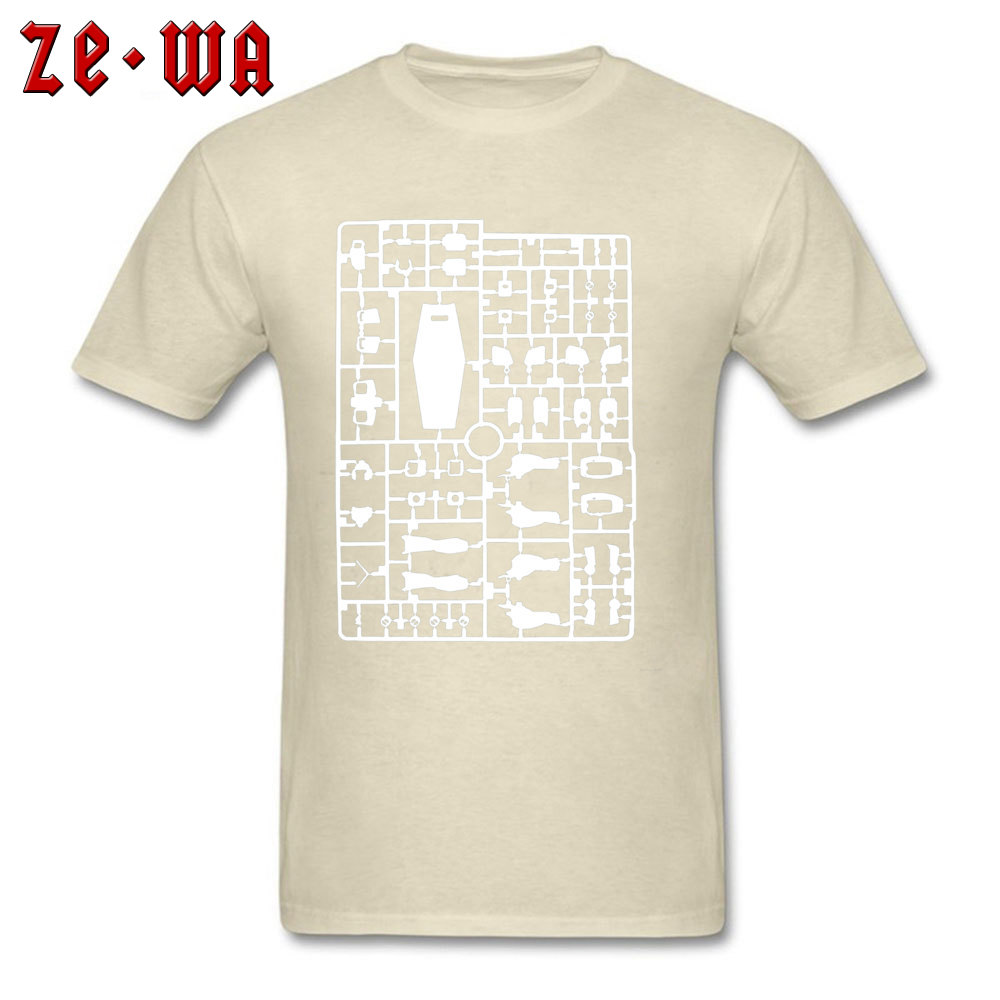 Casual T Shirts Prevalent Round Collar Gundam Runner Transparent 833 100% Cotton Man Tops & Tees Casual Short Sleeve Tee Shirts Gundam Runner Transparent 833 beige