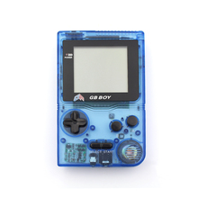 "Kong Feng GB Boy Pocket Handheld Game Console 2.45"" Game Player with Black and White display screen Color Clear Blue"