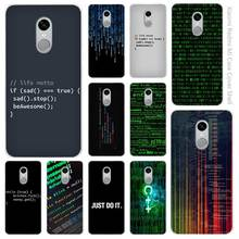 Hot Sale Program Words Clear Cover Case Coque for Xiaomi Redmi Mi Note 3 3s 4 4A 4X 5 5S 5C 6 Pro(China)