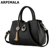 ARPIMALA 2017 Luxury Women Leather Handbag Casual Designer Tote Bag High Quality Tassel Ladies Hand Bag Fashion Work Shopper Bag