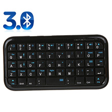 Etmakit New Fashion Portable Black Slim Mini Bluetooth Wireless Keyboard For Tablet PC Cellphone(China)