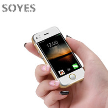 "Original Soyes 6S Mini Android Smart Phone 2.4"" High Resolution Screen Dual Core 1GB RAM 8GB ROM MTK6571 2.0MP Dual SIM Phone"