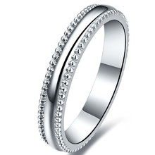 Classic Pure White Gold AU750 Male Finger Ring Men's Solid 18K White Gold Ring Without Stone High Quality Gurantee Last Forever
