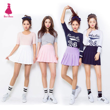 Sexy American Apparel AA Style Candy Colors Street High Waist Mini Short Ball Tennis Pleated Skirt 10 Colors Fashion Women XS-L
