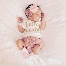 Baby girl clothing set Cotton romper lace PP short Newborn baby girl clothes Summer Infant jumpsuit pants Photograph props D3