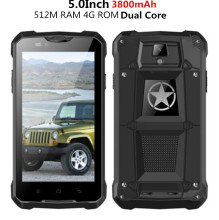 Unlocked  Z5 rugged Smartphone mobile v12 cell phone MTK6572 Dual Core 3G GPS Android 4.4 3800mAh Dustproof m18 z6 V8