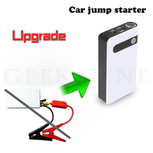 Mini car start jumper disel Portable 12v battery Power bank starter Emergency car jump starter with battery terminal clamp