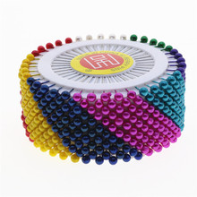 "480 Pcs 1.5"" Colorful Round Pearl Straight Head Pins , Dressmaking Sewing Pin Craft Tool Aa7504"