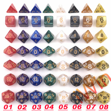 New DnD Dice Toys  Double Colors 7pcs/set for Dungeons and Dragons RPG MTG Gaming for Children's Gifts