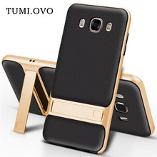For Samsung Galaxy J3 J5 J7 2016 2017 J2 J5 J7 Prime S7 S8 Plus TPU + PC 2 in 1 Stent Ring Soft TPU Rubber PC Frame Cover Case