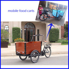 Hot Factory Supply Food Cargo Bike mobile food cart trucks commercial food trailer for selling snack for sale(China)