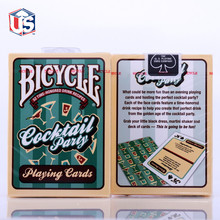 Bicycle Cocktail Party Playing Cards 1 Deck 52 Drink Recipes U.S. Playing Card Magic Props(China)