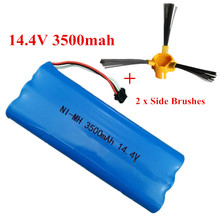 14.4V 3500mAh For Cobos Ecovacs  D540 D550 D560 D570 D580 Ni-MH battery pack Sweeper Vacuum Cleaner Battery+2pcs Side Brushes