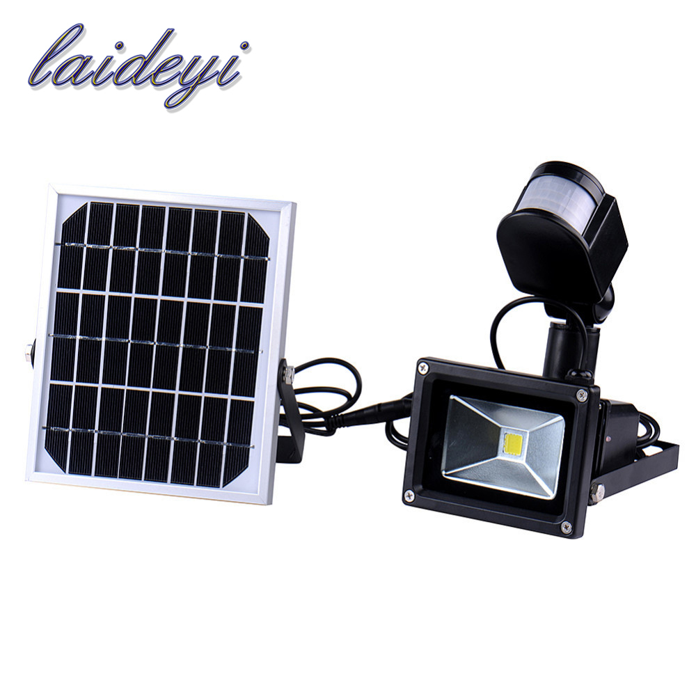 10W 60leds IP65 waterproof Led Flood Light Pir solar Motion Sensor Induction Sense Led Floodlight Cold White Advertising Lamp <br>