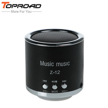 TOPROAD Mini Cylinder Column Portable Speaker Amplifier Sound Music HIFI Speakers Support FM Radio TF Card AUX MP3 Player(China)