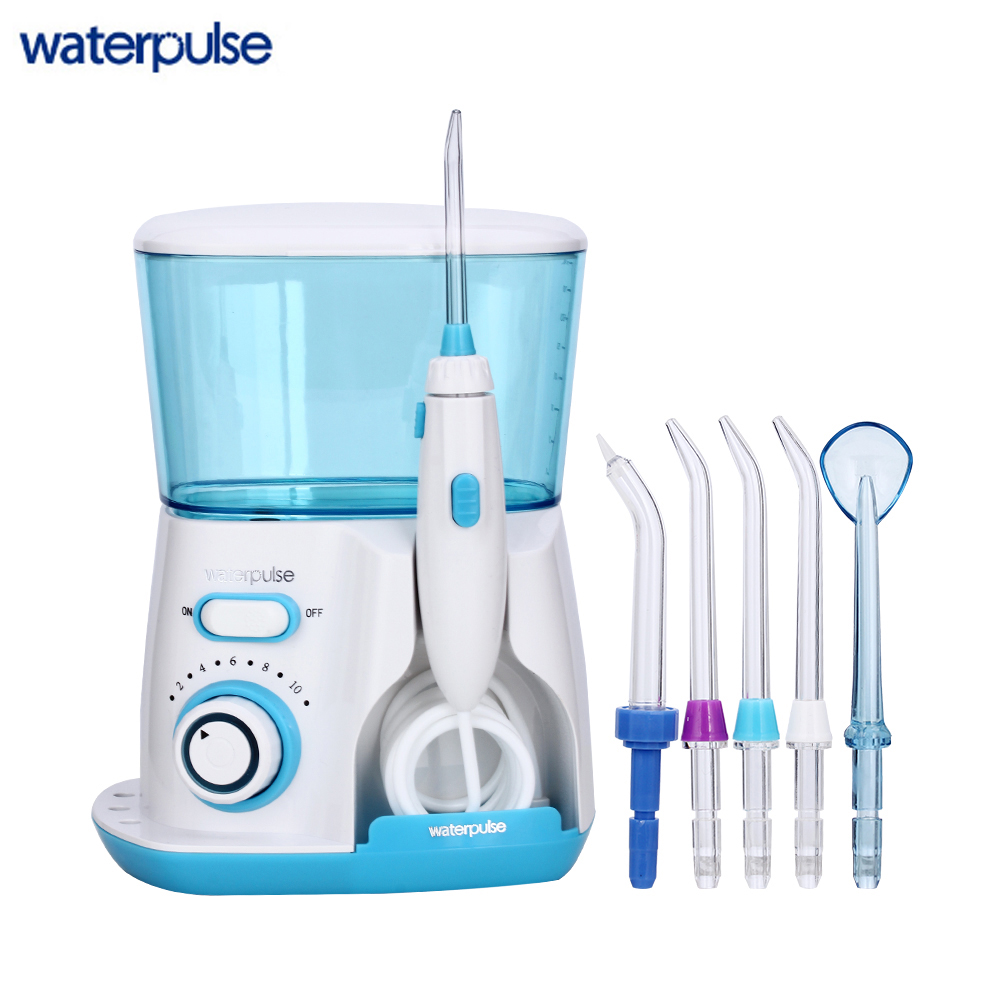 Waterpulse V300 Oral Irrigator 800ml Dental Irrigator Power Floss Dental Water Jet Oral Hygiene Water Flosser Dental Flosser<br>