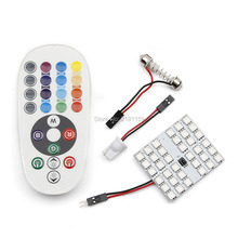 1set Car Styling 36smd 5050 Atmosphere Lights remote control multiple colour RGB auto led dome bulbs Interior led reading lights
