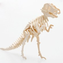 DIY Puzzle Wooden Toys 3D Stereo Dinosaur Jigsaw Puzzle Model Children Creative Birthday Gift Dinosaur 3D Puzzles