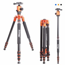 Zomei Z818 Portable Professional Aluminum Travel Camera Tripod with quick release plate monopod flexible tripod legs(China)