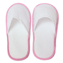 10 pairs of White Towelling Hotel Disposable Slippers Terry Spa Guest Shoes