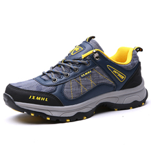 New product Men Hiking Shoes Breathable Autumn Winter Sneakers Non-slip Climbing Man Shoes Blue Black Gray(China)