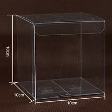 "10Pcs/Lot 10*10*10cm 3.93""x3.93""x3.93"" Simple Clear PVC Plastic Package Box Event Poly Packing Boxes For Small Cosmetics Cream"
