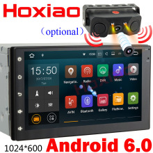 2 din Android 6.0 Car DVD player GPS / Wifi / Bluetooth / Radio / Quad Core 1G 16G 7 inch 1024*600 screen car stereo radio(China)