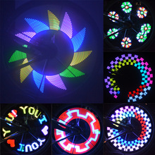 DIY 32 LED Bicycle Lights Colorful Bike Wheel Spokes Light Motor Lamp Cycling Tire Signal LED Luces For Night Riding Bicicleta