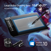 "New UGEE M1000L Art Graphics Drawing Digital Tablet Ultra Thin Large Active Area 10""x6.2"" pen signature PC Laptop"