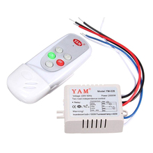 YAM AC 220V Wireless Light Lamp Digital Switch with Remote Control White, YAM-028 2-Way(China)